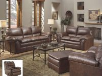 6152 Simmons Geneva Mahogany Sofa And Loveseat-Discontinued inside Simmons Living Room Furniture