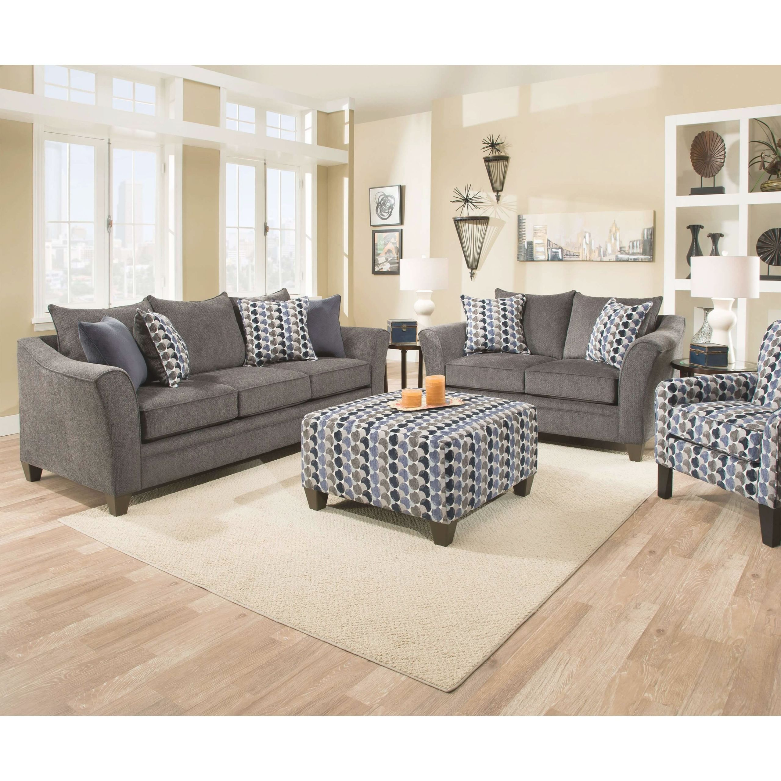 6485 Albany Slate Sofa And Loveseatsimmons with New Simmons Living Room Furniture