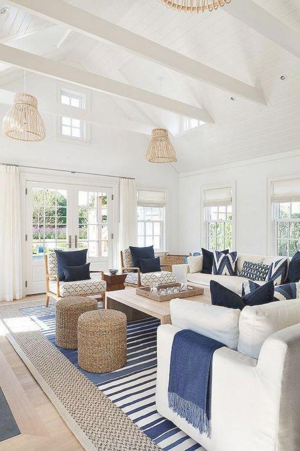 77+ Comfy Coastal Living Room Decorating Ideas | Living Room pertaining to Coastal Living Room Ideas