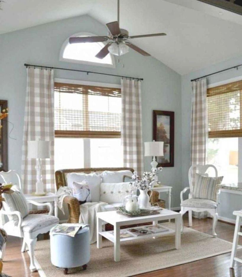 90 Modern Farmhouse Living Room Curtains Decor Ideas ... on Living Room:rabldsgvkje= Farmhouse Curtain Ideas  id=44077