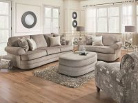9255 Kingsley Pewter Sofa, Chair 1/2, And Ottoman Set Simmons-Discontinued with Simmons Living Room Furniture