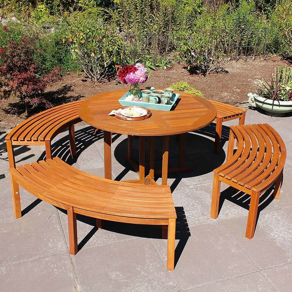 Curved-Indoor-or-Outdoor-Dining-Bench-All-Wood-Slated-Top-Easy-Dry