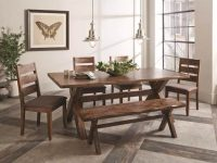 Farmhouse-Style-Dining-Bench-X-Legs-Brown-Finish-One-Color