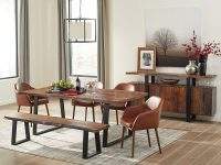 Live-Edge-Dining-Bench-With-Metal-Legs-Dark-Brown-Striped