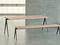 Long-Wooden-Solid-Oak-Dining-Bench-With-Black-Frame-Light-Finish-Seat