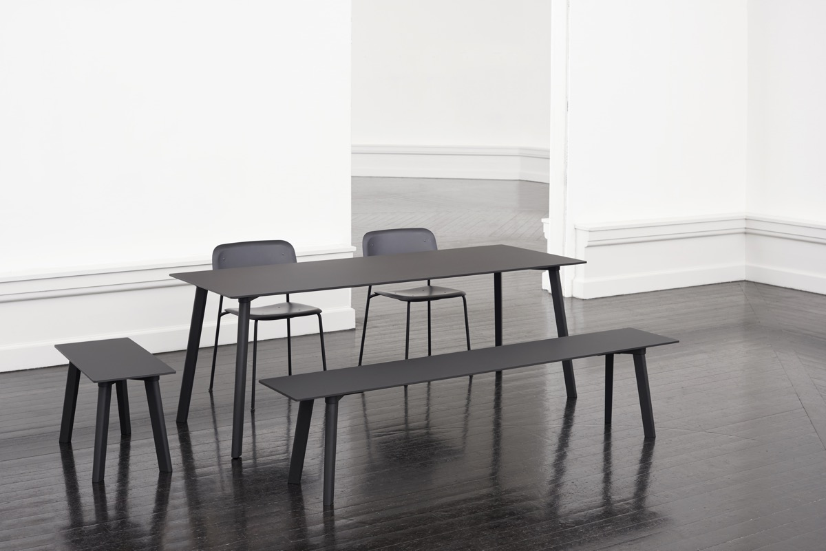 Modern-Black-Dining-Bench-Dark-Metal-Matte-Finish-Contemporary