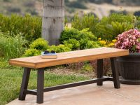 Outdoor-Dining-Bench-With-Blacks-Legs-and-Light-Wood-Seat
