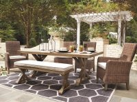 Outdoor-Dining-Bench-With-Cushion-Farmhouse-Style-Wood-With-Removable-Grey-Cushion