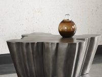 Premium-Rustic-Metal-Coffee-Table-Organic-Shape-Modern-Art-Chunky