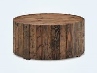 Round-Reclaimed-Wood-Coffee-Table-Planked-Barrel-Solid-Wood-Dark-Brown