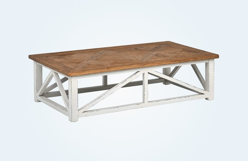 Rustic-Farmhouse-Style-Coffee-Table-Recycled-Wood-Reclaimed-Distressed-Base-White