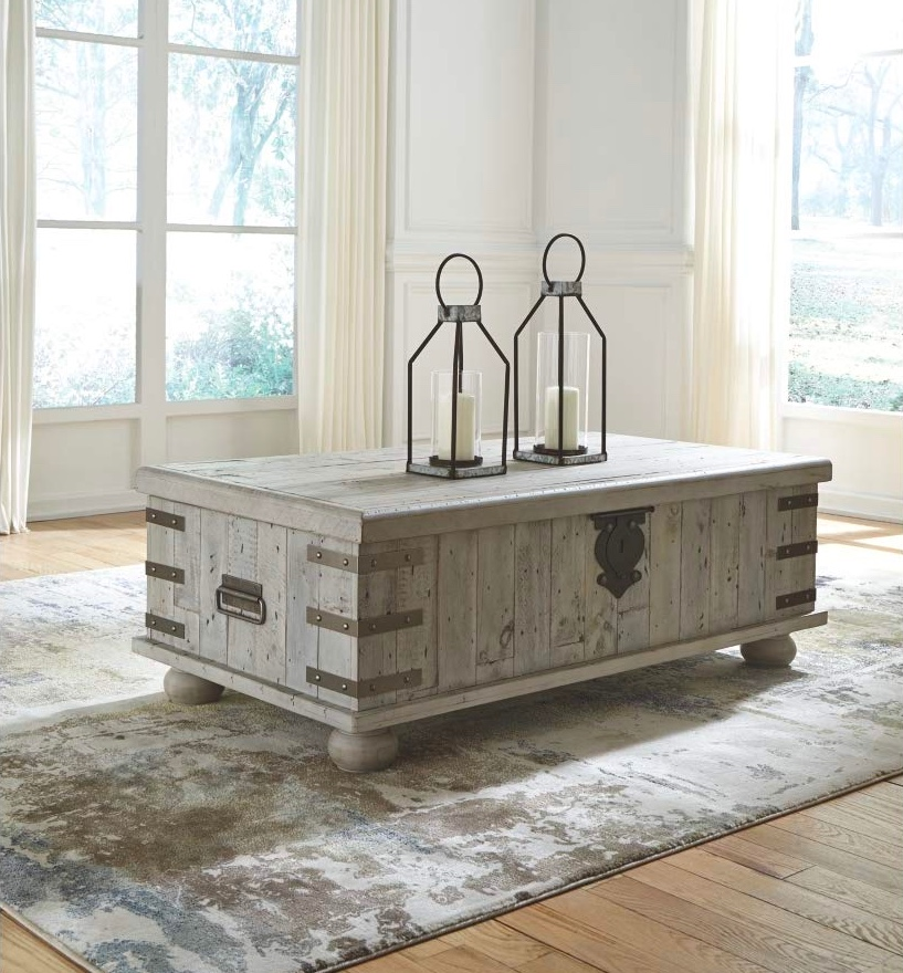Rustic-Rectangular-Grey-Coffee-Table-Storage-Trunk-Weathered-Wood