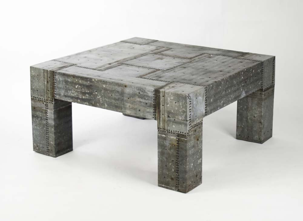Rustic-Recycled-Metal-Coffee-Table-Reclaimed-Tin-Patched-Handmade