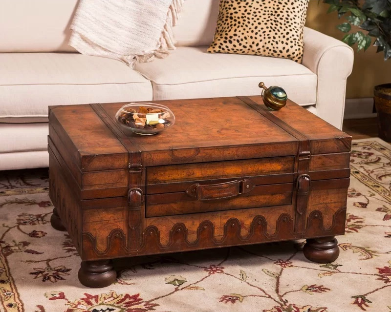 Rustic-Storage-Trunk-Coffee-Table-Wood-Suitcase-With-Legs