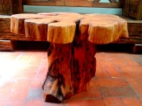 Rustic-Style-Tree-Stump-Coffee-Table-Natural-Earthy