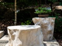 Rustic-Themed-Faux-Stone-Outdoor-Coffee-Table-That-Looks-Like-A-Rock