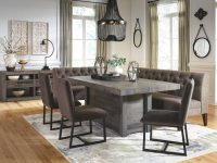 Upholstered-Dining-Bench-With-Back-Grey-Button-Tufted