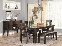 Upholstered-Dining-Room-Bench-Faux-Black-Leather-Cushion-And-Dark-Brown-Wood-Legs