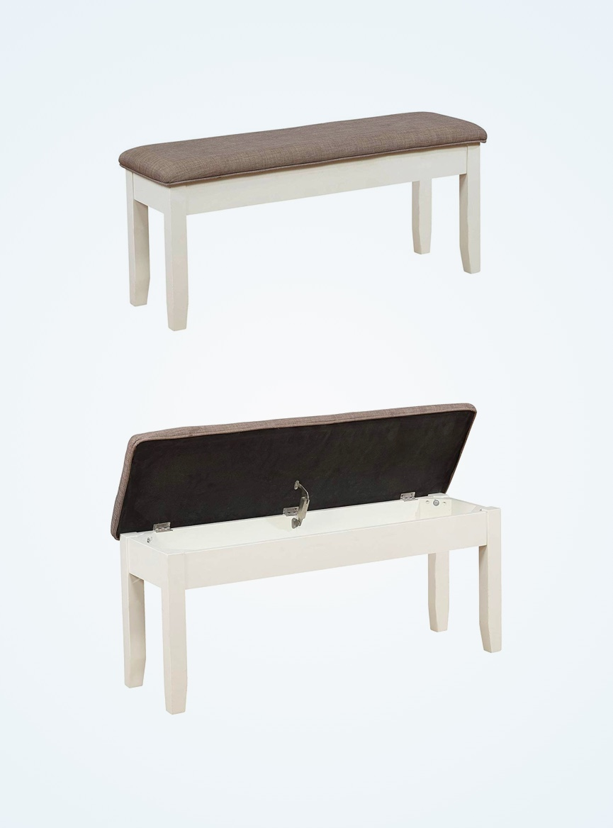 White-Dining-Bench-With-Storage-Flip-Top-Storage-For-Dining-Room-Table