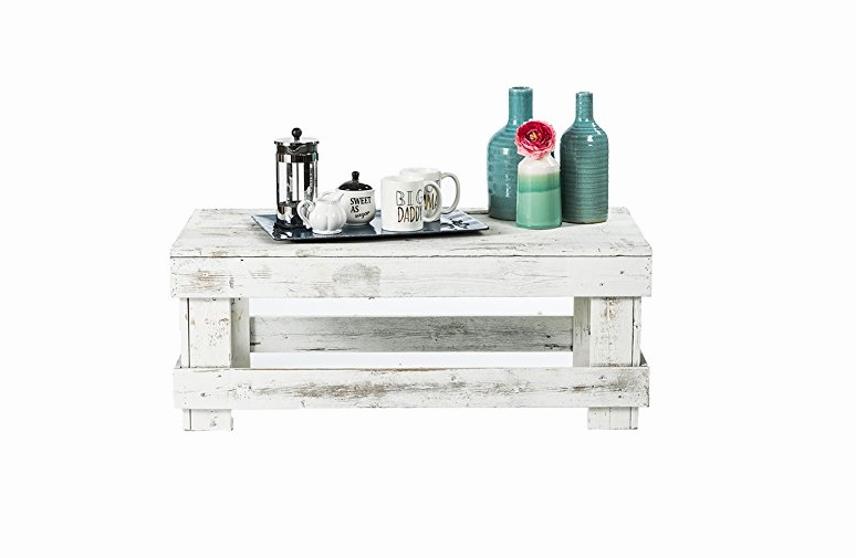 White-Reclaimed-Rustic-Wood-Coffee-Table-Distressed-White-Small-Narrow