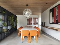White-orange-and-grey-dining-room
