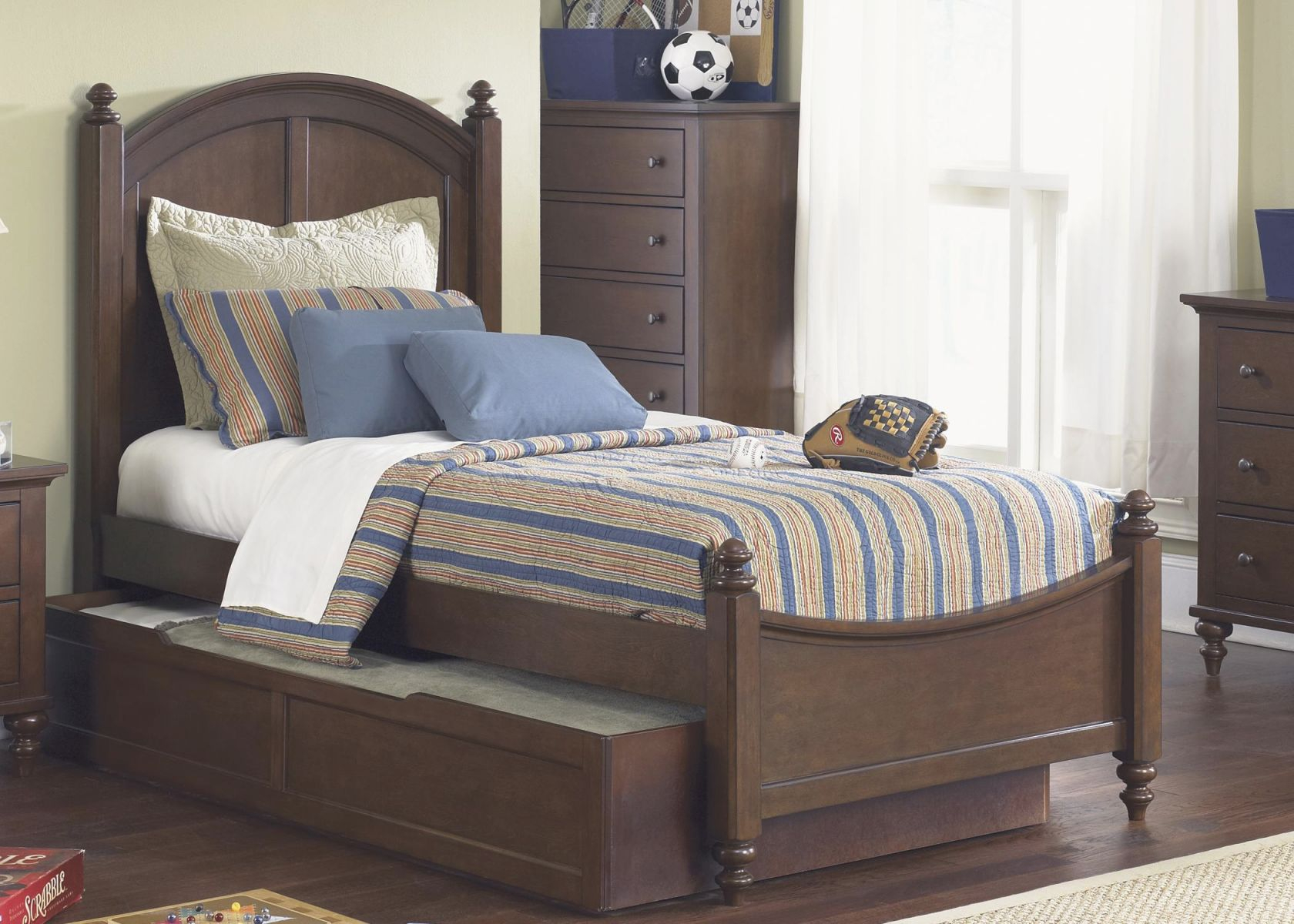 Abbott Ridge Youth Bedroom Full Panel Bed With Trundleliberty Furniture At Lindy's Furniture Company inside Awesome Full Size Bed With Trundle Bedroom Set