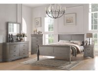 Acme Furniture Louis Philippe 4-Piece Bedroom Set, Antique Gray throughout Awesome Bedroom Set Grey