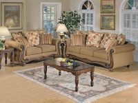 Acme Furniture Olysseus 2Pc Sofa Set In Brown Floral intended for Floral Living Room Furniture