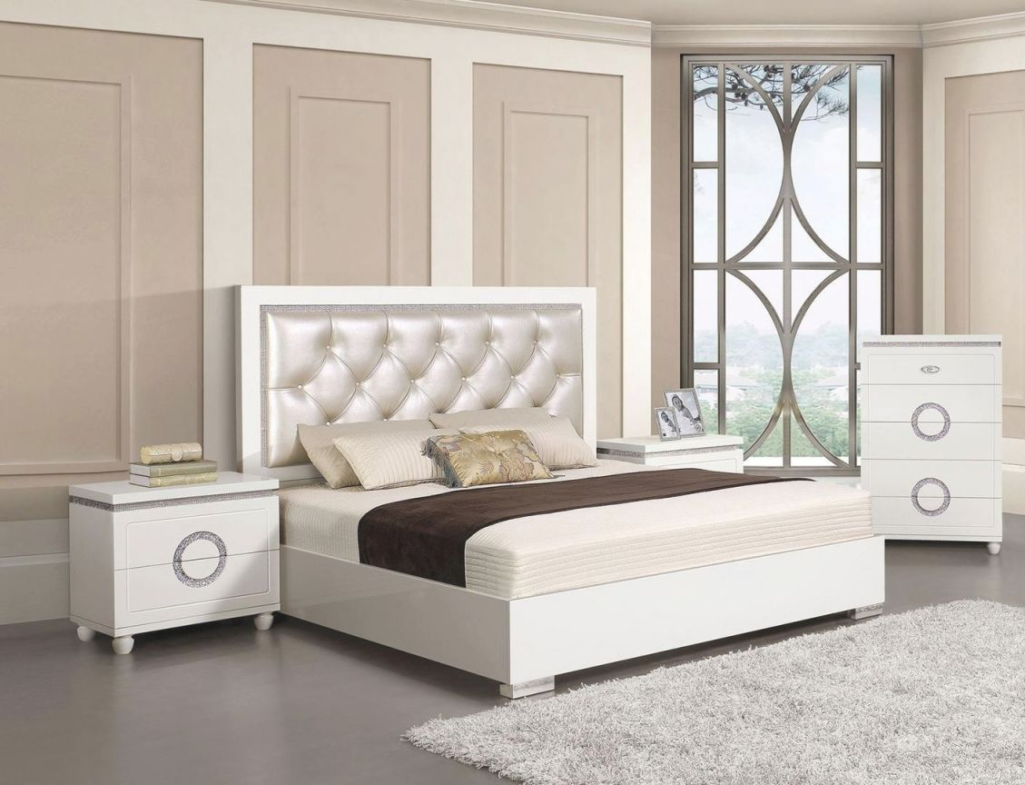 Acme Furniture Vivaldi 4 Piece Queen Size Bedroom Set with regard to Luxury Bedroom Set Queen Size
