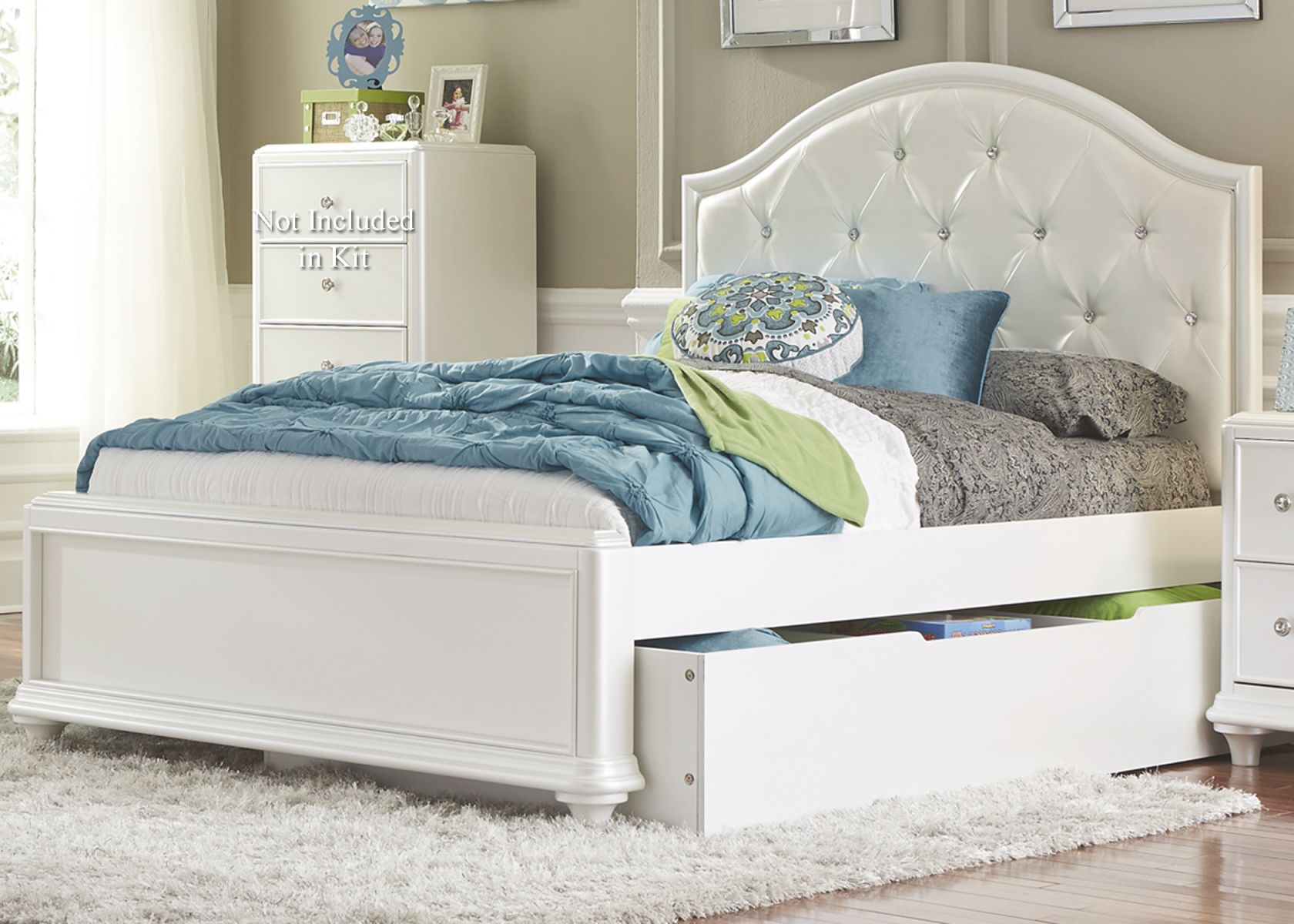 Algrenon Twin Platform Bed With Trundle Wa | Hbgauthority intended for Awesome Full Size Bed With Trundle Bedroom Set