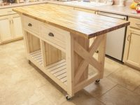 Ana White Double Kitchen Island Butcher Block Top Moved within Elegant Butcher Block Kitchen Island
