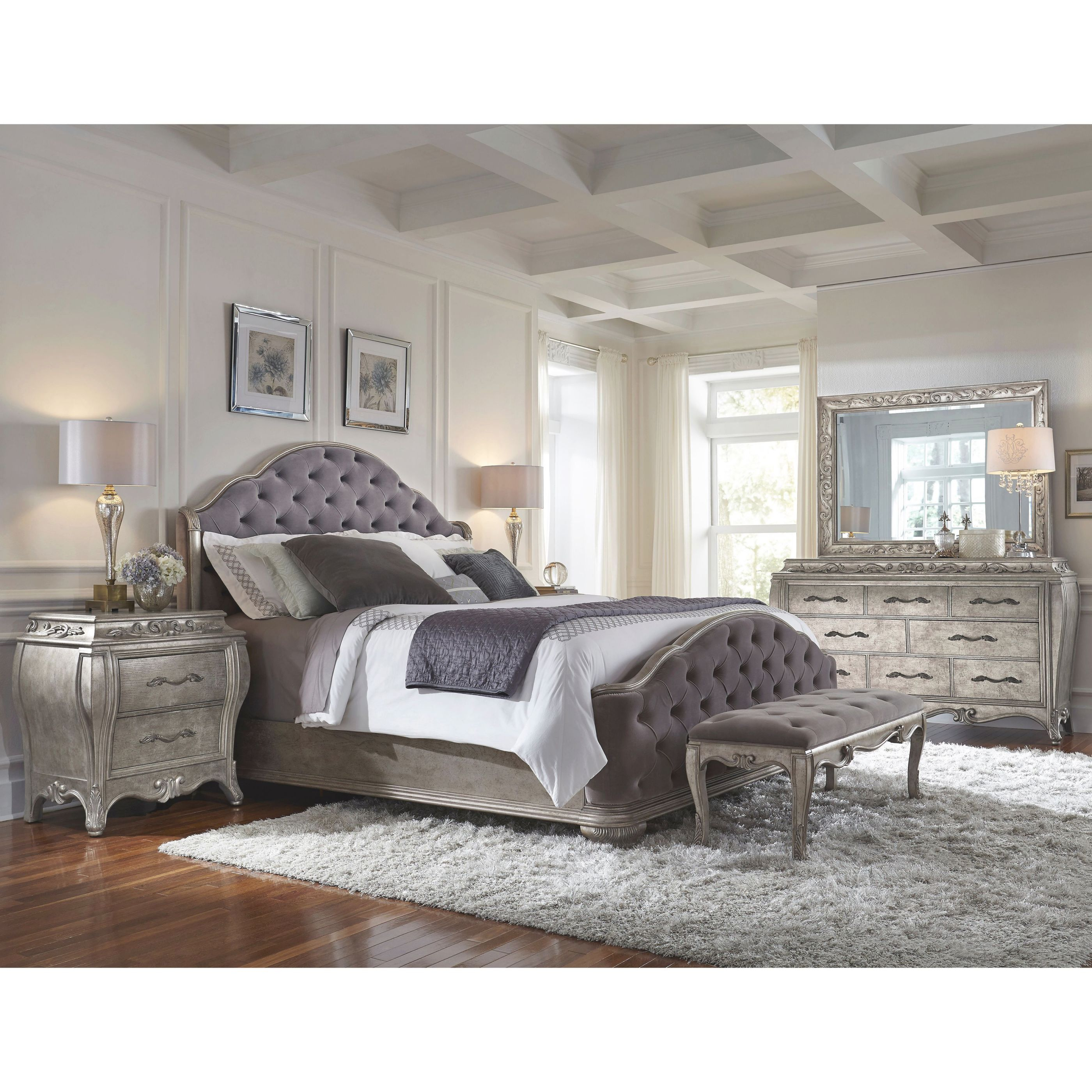 Anastasia 6-Piece Queen-Size Bedroom Set within Bedroom Set Queen Size