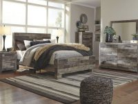 Ashley Furniture Derekson Panel Bedroom Set In Multi Grey regarding Bedroom Set Grey