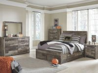 Ashley Furniture Derekson Storage Bedroom Set With Under Bed Storage In  Multi Grey inside Awesome Bedroom Set Grey
