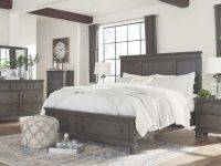 Ashley Furniture Devensted Storage Bedroom Set In Dark Grey with Awesome Bedroom Set Grey