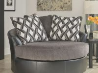 Ashley Furniture Kumasi Oversized Swivel Accent Chair In Smoke within Oversized Living Room Furniture