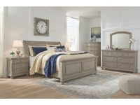 Ashley Furniture Lettner Sleigh Bedroom Set In Light Grey for Awesome Bedroom Set Grey