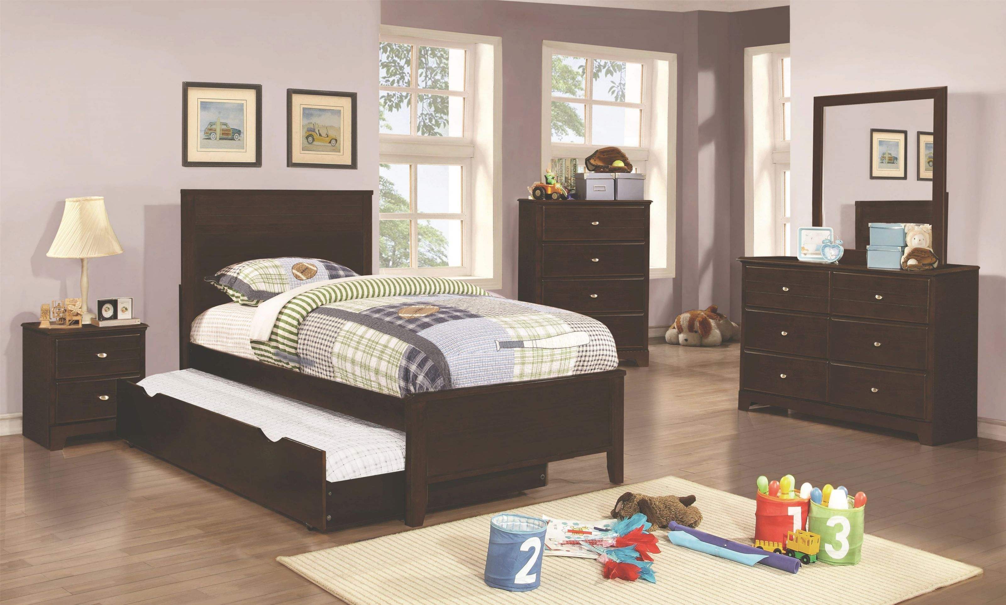 Ashton Collection Full Trundle Bedroom Groupcoaster At Dunk & Bright Furniture intended for Awesome Full Size Bed With Trundle Bedroom Set