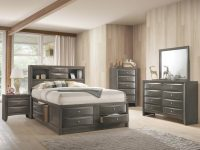 B4275 Emily Crown Mark Grey Captain Bedroom Set with regard to Bedroom Set Grey