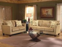 Barton Camel Fabric Casual Living Room Sofa & Loveseat Set within Luxury El Dorado Furniture Living Room Sets