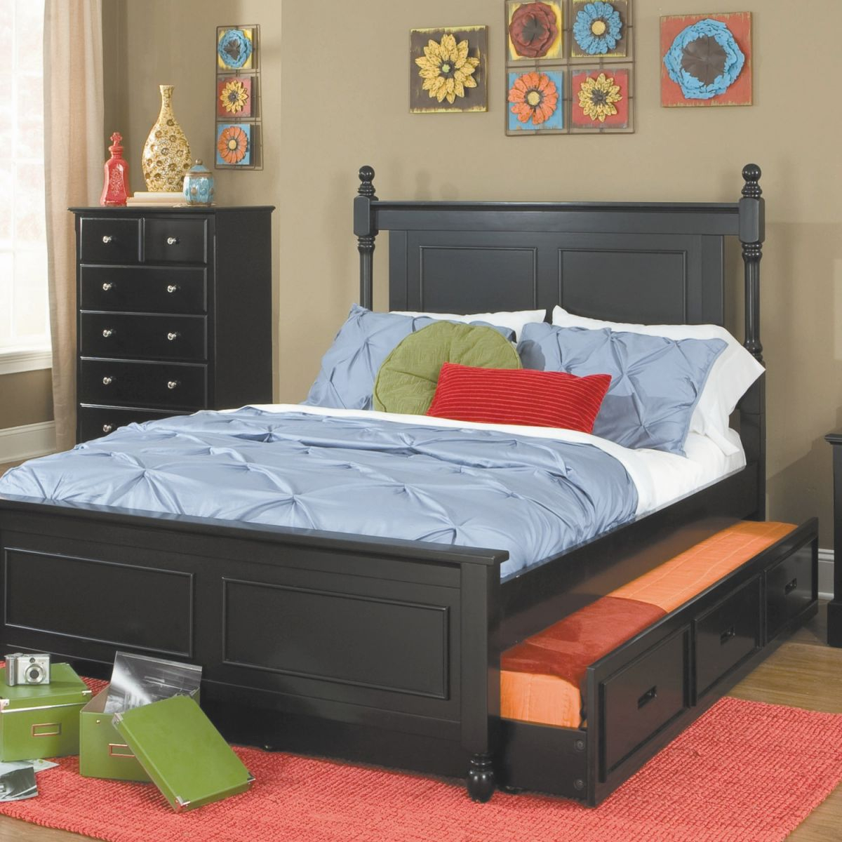 Bedroom: Teen Room Design Using Best Full Size Trundle Bed throughout Full Size Bed With Trundle Bedroom Set
