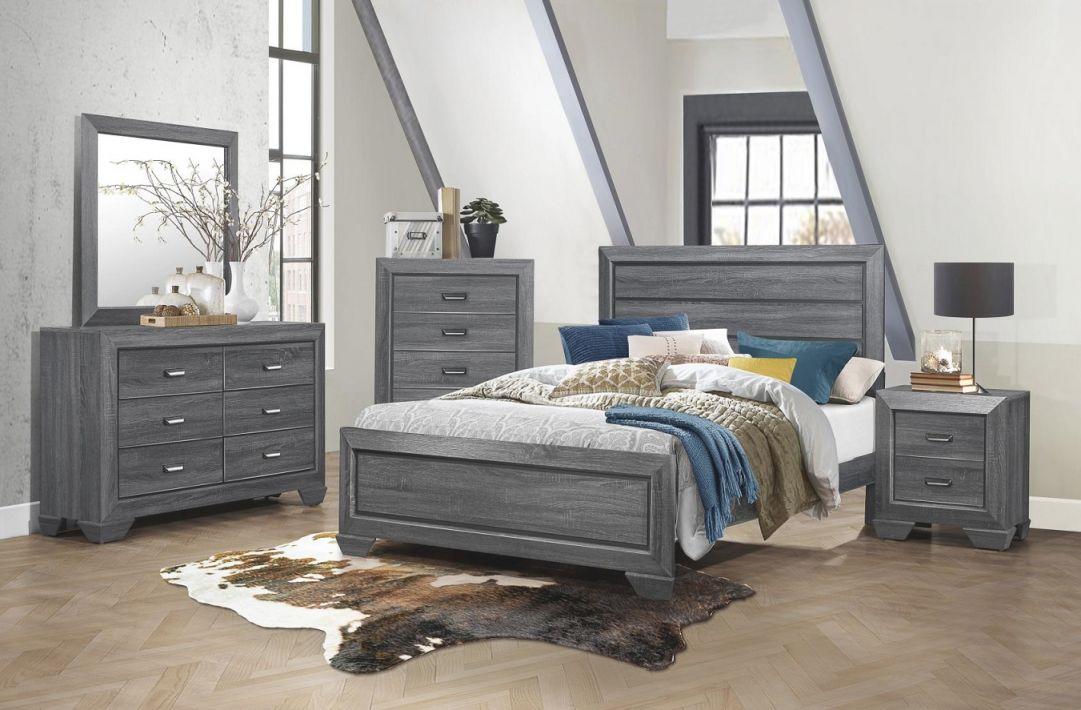 Beechnut Grey 4-Piece Queen Bedroom Set intended for Bedroom Set Grey