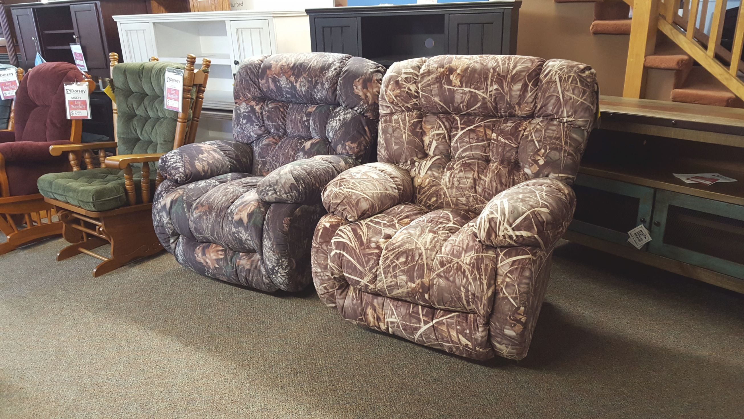 Best Chair Camo Recliners!!! - Furniture Bangor, Maine inside Camo Living Room Furniture