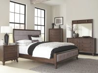 Bingham Retro-Modern Brown 4-Piece Upholstered Bedroom Set throughout Luxury Bedroom Set Modern