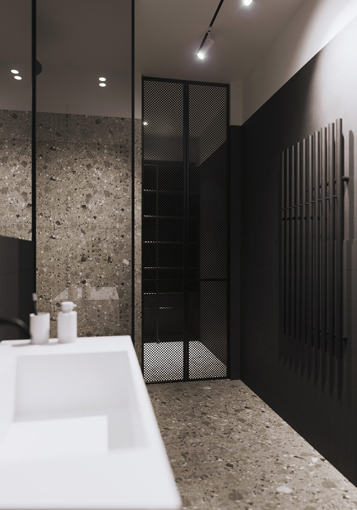 black-and-grey-bathroom