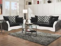 Black And White Sofa And Love Living Room Set with regard to Living Room Furniture Chairs