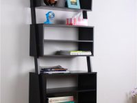 black-ladder-shelf-with-wide-cubby-design-for-modern-homes