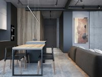 black-wood-and-grey-dining-room