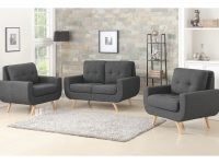 Bloomington Tufted 3 Piece Living Room Set in Unique Tufted Living Room Furniture