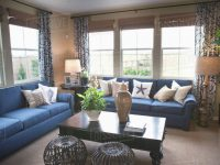 Blue Sofas In Traditional Living Room ,tustin, California, Usa Stock Photo with New Traditional Living Room Furniture